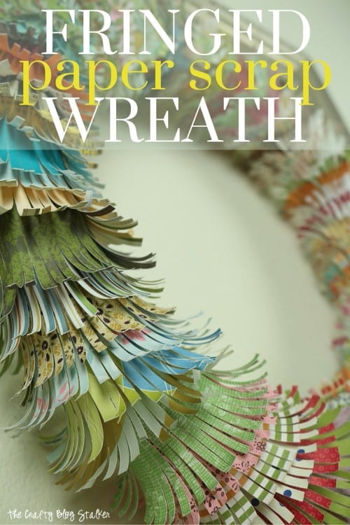 Have a lot of paper scraps? Use up those scraps and create this beautiful wreath to hang on your door or wall. A simple DIY craft tutorial idea.