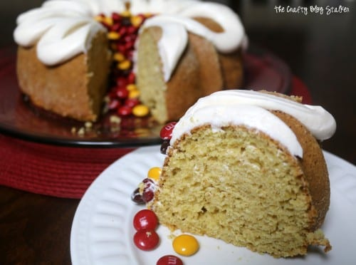How to Make a Pumpkin Bundt Cake Recipe, a tutorial featured by top US craft blog, The Crafty Blog Stalker.