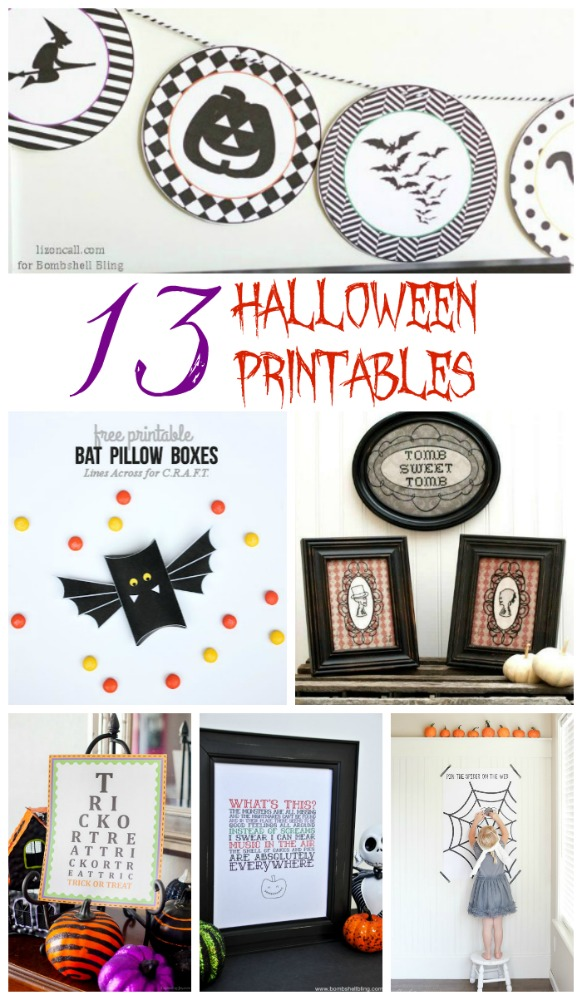 13 Halloween Printables Roundup