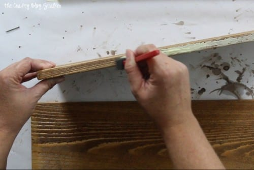 How to Make a Wood Planter Box Centerpiece, a tutorial featured by top US craft blog, The Crafty Blog Stalker: wood glue