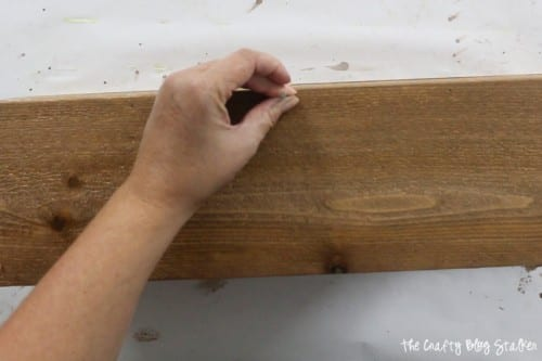 How to Make a Wood Planter Box Centerpiece, a tutorial featured by top US craft blog, The Crafty Blog Stalker: nails