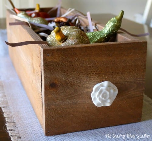 How to Make a Wood Planter Box Centerpiece, a tutorial featured by top US craft blog, The Crafty Blog Stalker: planter box for autumn