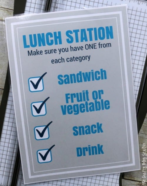 How to Make a Lunch Station Printable for School Lunches | Easy DIY Craft Tutorial Idea | Jif | ad | back to school | out the door faster