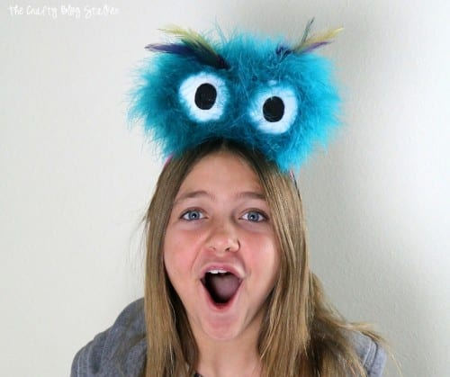 How to Make a Fluffy Monster Eyes Headband | Easy DIY Craft Tutorial Idea | MakeItFunCrafts | FloraCraft | Ad | Halloween Costume | Kids Craft | Head Bands | Headpieces