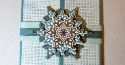 Snowflake Gatefold Card 2