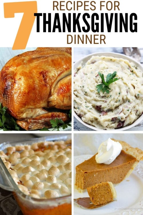 title image for 7 Recipes for a Thanksgiving Dinner