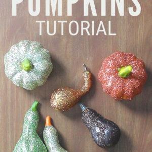 glitter pumpkins 13