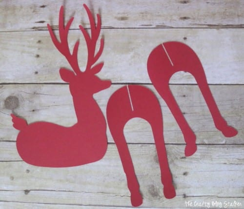 How to Make a 3D Reindeer Christmas Decoration, a tutorial featured by top US craft blog, The Crafty Blog Stalker.