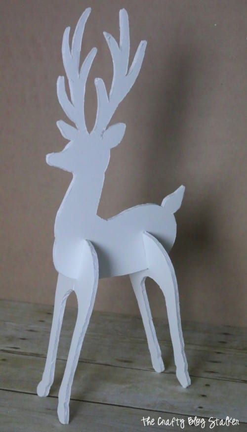 blank 3d reindeer decoration