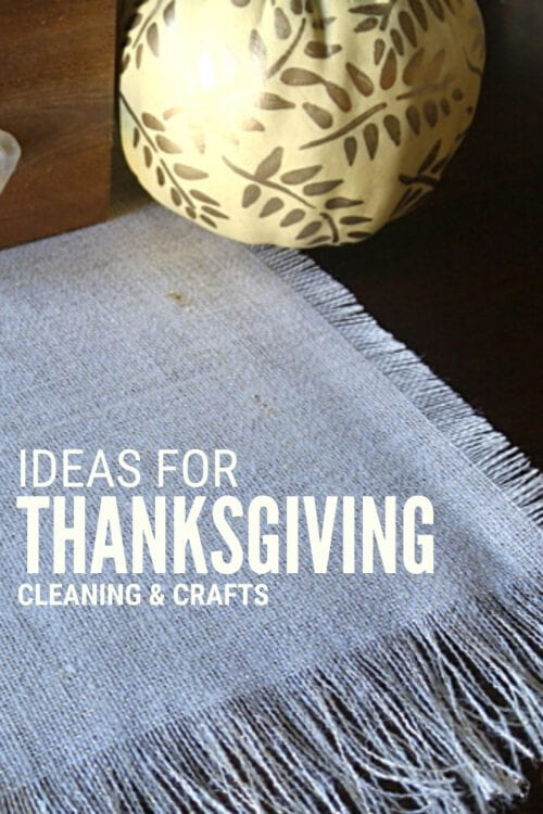 title image for Ideas for Thanksgiving From Crafts to Cleaning with a fringed burlap table runner