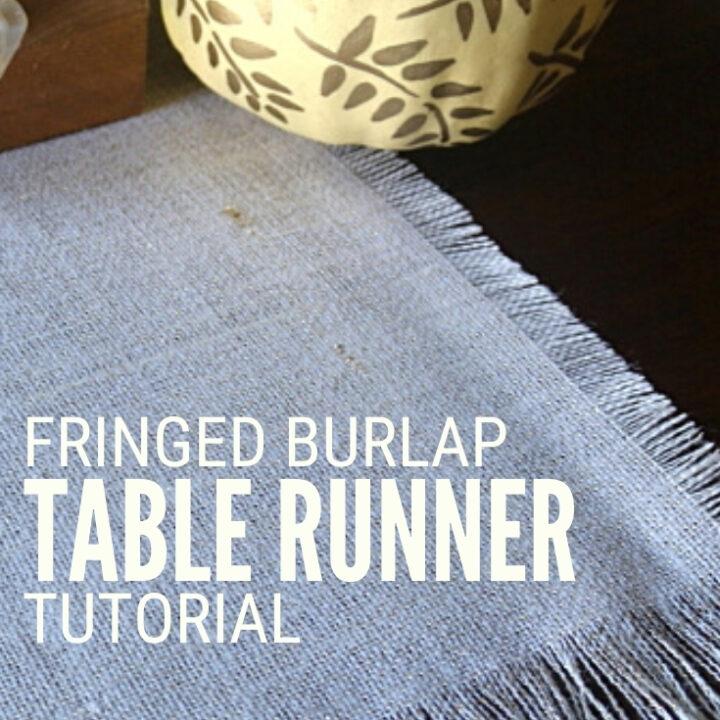 Burlap Table Runner 18