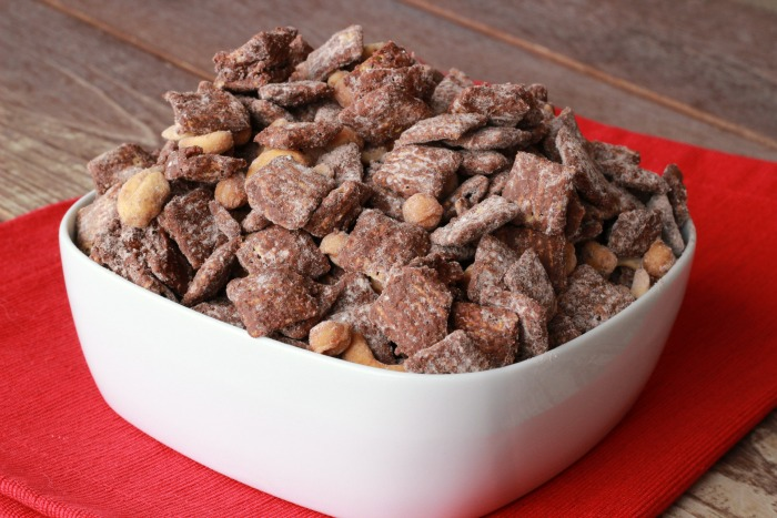 Devil Chocolate Chex Mix Treat