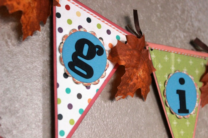 Fall Banner with leaves