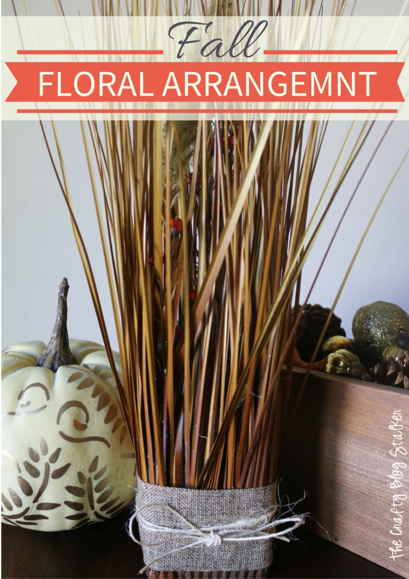 Make your own fall floral arrangement. This Fall Grass Arrangement is gorgeous and simple to recreate. Video tutorial and written instruction included.