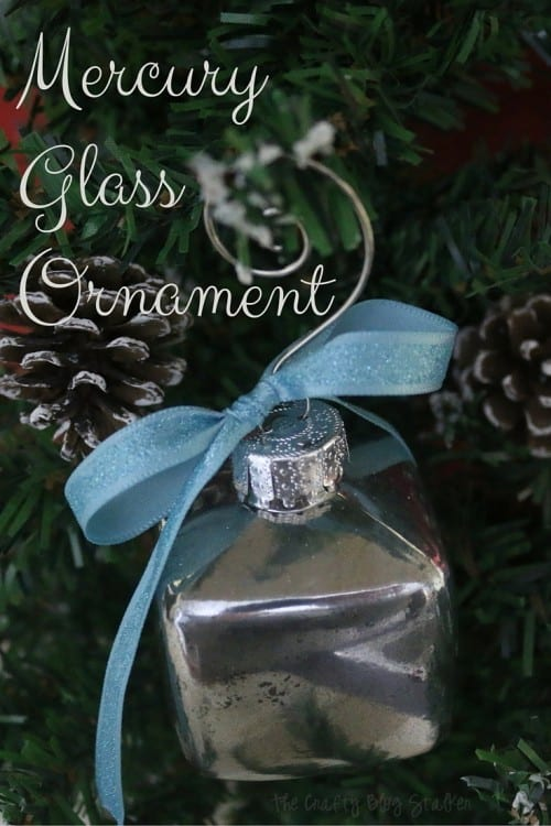 Follow this tutorial to make a vintage Mercury Glass Ornament. A beautiful keepsake ornament for your Christmas Tree that you can keep or give as a gift. #ShopConsumerCrafts #ad