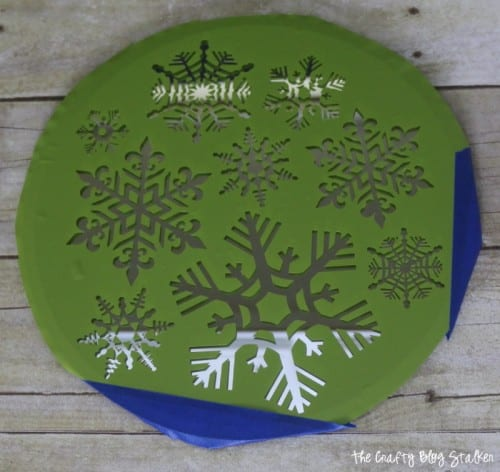 Snowflake Candle Mirror Plate The Crafty Blog Stalker