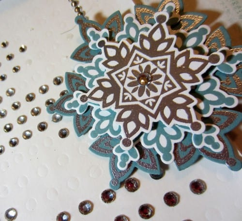 layered snowflake with sticky gems