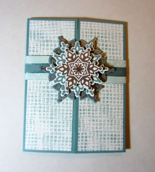 the finished snowflake card