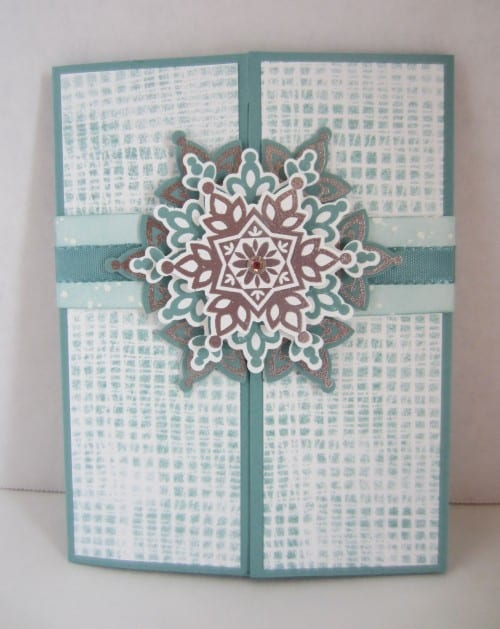 How to Make a Handmade Snowflake Gatefold Card   Easy DIY Craft Tutorial Idea   Handmade Card   Winter   Paper Crafting   Rubber Stamping   Stampin' Up!