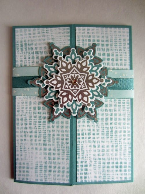 How to Make a Handmade Snowflake Gatefold Card, a tutorial featured by top US craft blog, The Crafty Blog Stalker.
