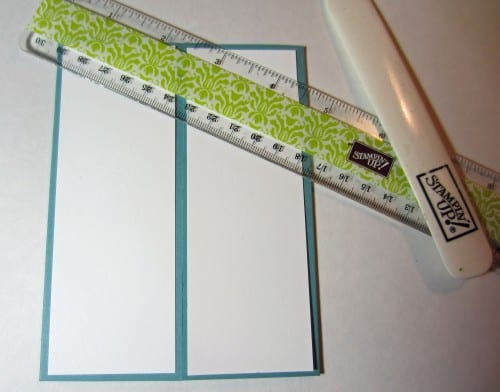 white paper panels on a gatefold card