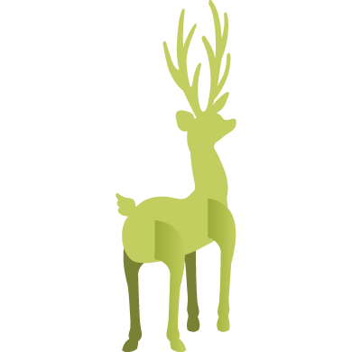 stand up deer from cricut design space