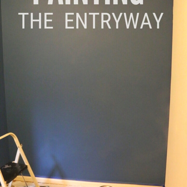 painting the entryway 14