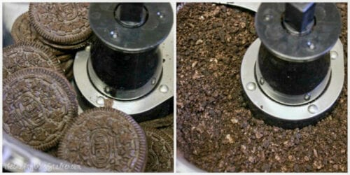 crushing Oreos in a food processor
