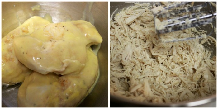 shredded chicken collage
