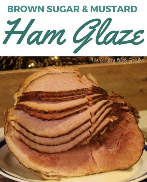 A simple ham glaze recipe made of brown sugar and mustard is the perfect addition to a Favorite Things Party with friends. An easy DIY recipe tutorial idea.