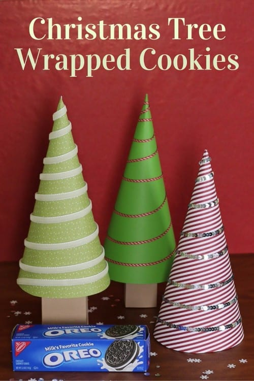 Christmas Tree Wrapped Cookies are perfect for neighbor gifts, teacher gifts, co-worker gifts, or just because gifts. And they double as Christmas Decor. #GiftDeliciously #CollectiveBias