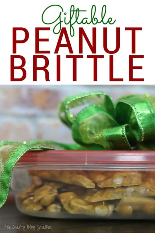 Giftable Peanut Brittle | Neighbor Gift | Christmas Treats | Microwave | Recipes | Homemade Gifts | Easy DIY Recipe Tutorial Idea | Bowdabra | #ad |