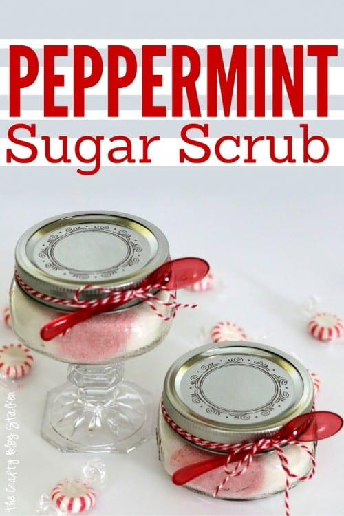 A Homemade Peppermint Sugar Scrub recipe for the perfect handmade gift. An easy DIY craft tutorial idea that exfoliates and moisturizes your skin.