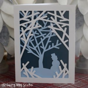 How to Make Into the Woods Handmade Christmas Cards