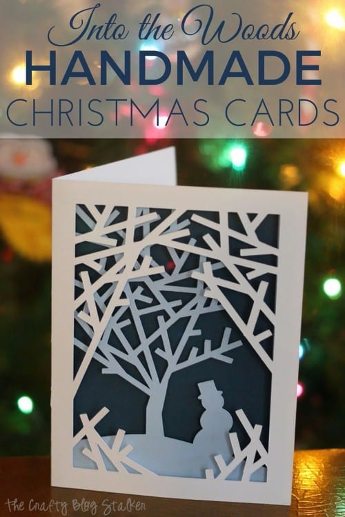 into the woods handmade christmas card cricut paper crafts cricut design space