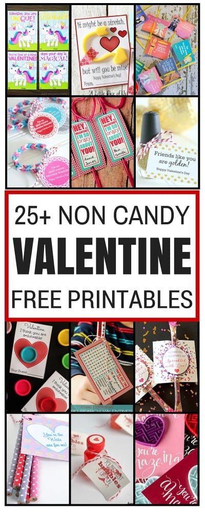 Non-Candy Valentine Free Printables | Valentine's Day | Kids Crafts | Handmade | Free Printable | Easy DIY Craft Tutorial Idea