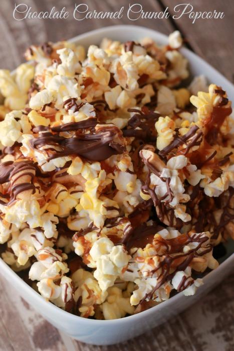 Chocolate Caramel Crunch Popcorn Recipe