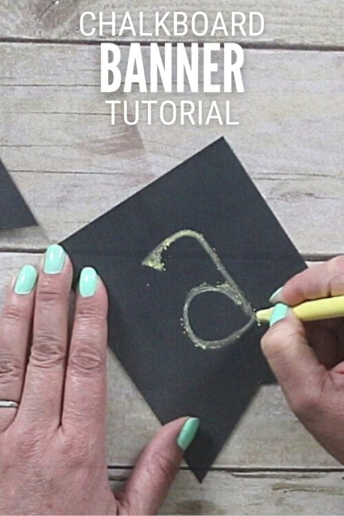 title image for How to Make a Chalkboard Banner
