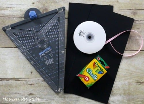 Make a Chalkboard Banner using the Banner Punch Board. Easy DIY craft tutorial ideas for simple party decorations and home decor.