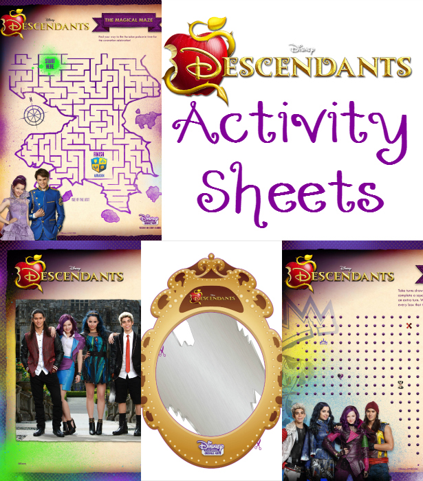 Disney Descendants Activity Sheets