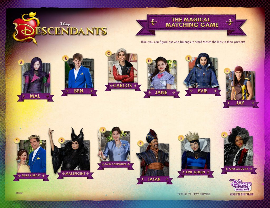 Disney Descendants Magical Matching Game