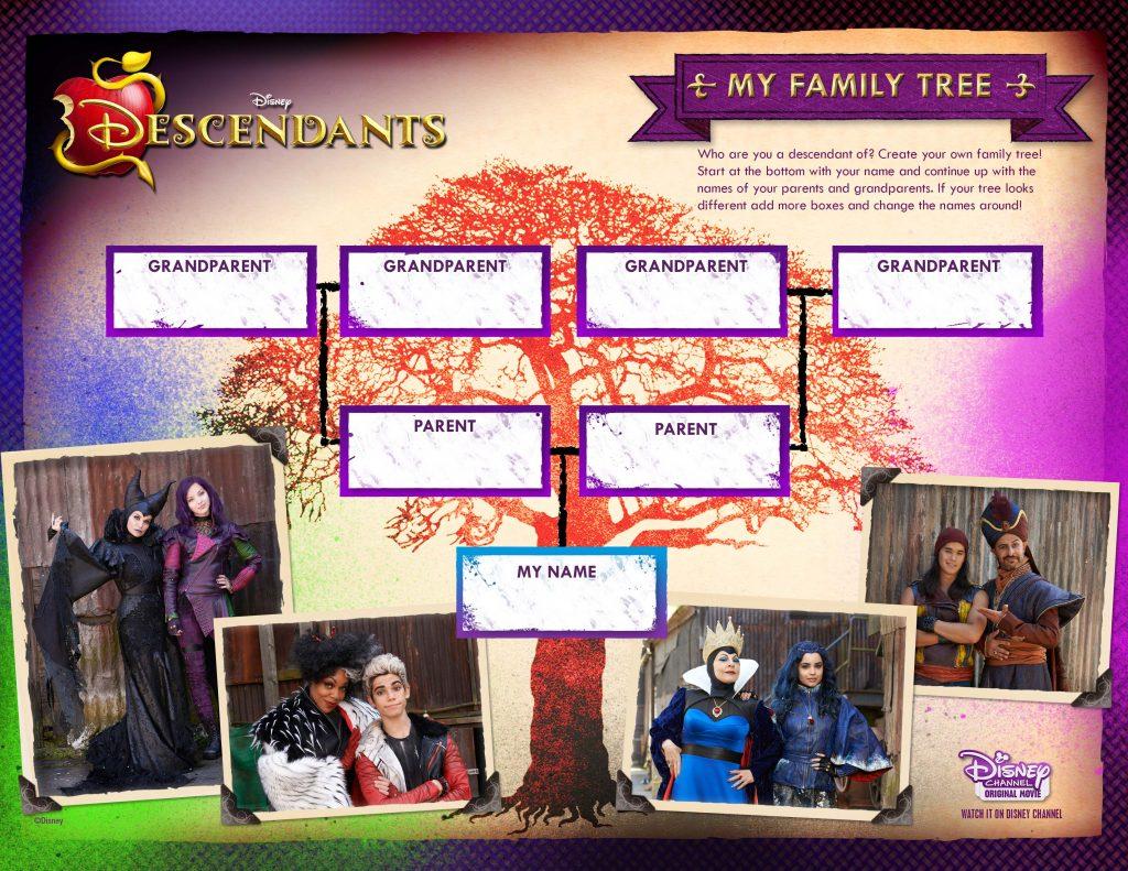 Disney Descendants My Family Tree