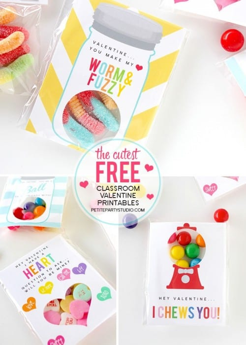 25+ Valentine Printables to be given with Candy featured by top US craft blog, The Crafty Blog Stalker: Valentine Class Printable