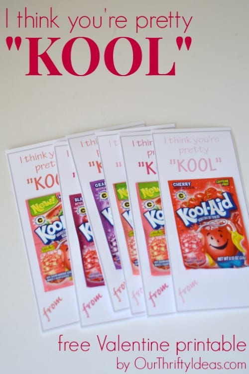 25+ Valentine Printables to be given with Candy featured by top US craft blog, The Crafty Blog Stalker: I think you're pretty Kool printable valentine
