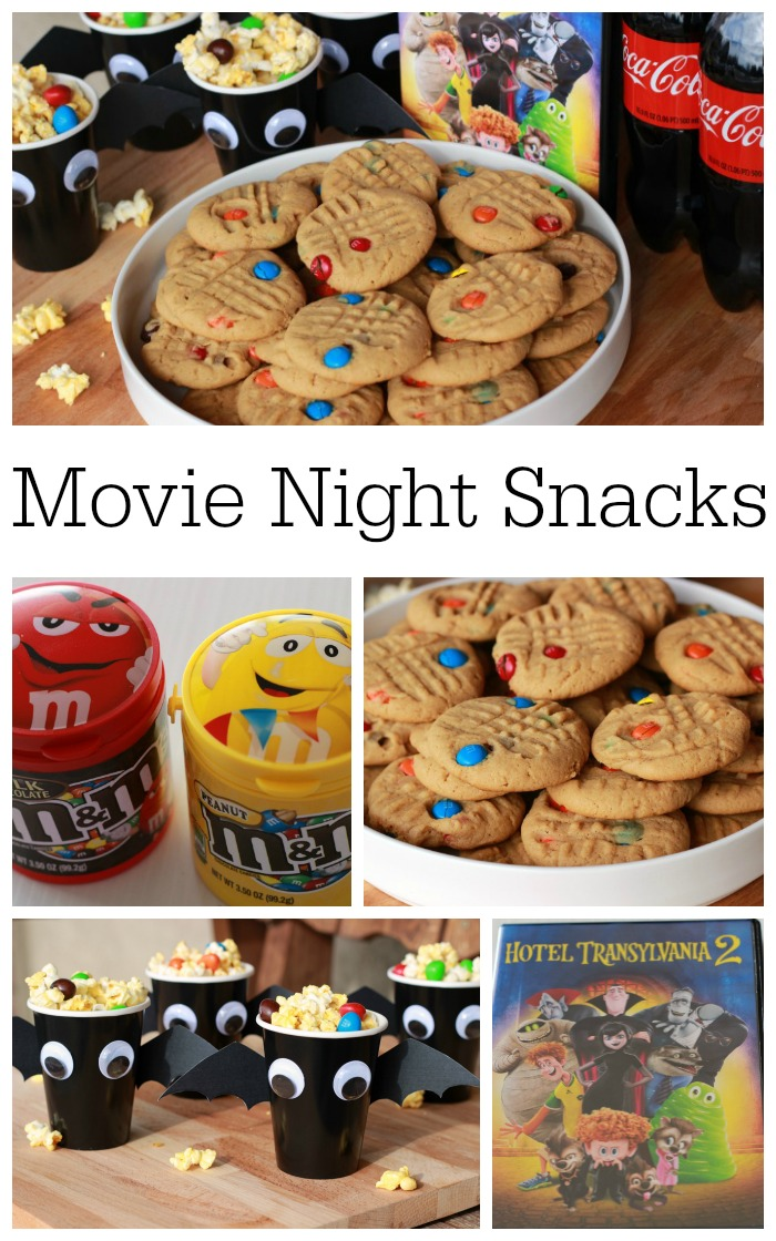 Movie Night Snacks Collage