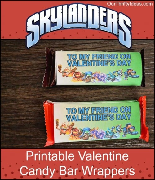 25+ Valentine Printables to be given with Candy featured by top US craft blog, The Crafty Blog Stalker: Skylanders Valentine Printable - Candy Bar Wrapper