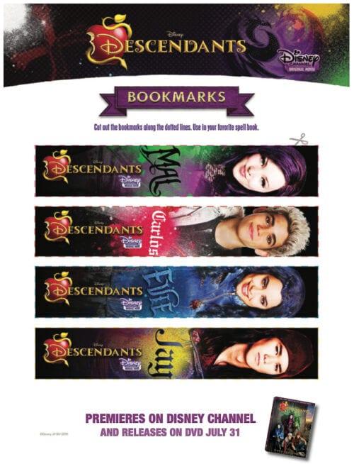 Disney Decsendants Character Bookmarks