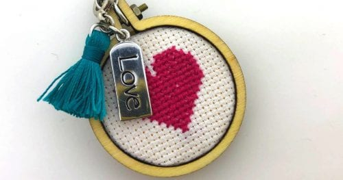 How to Make a DIY Love Heart Pendant Necklace, a tutorial featured by top US craft blog, The Crafty Blog Stalker.