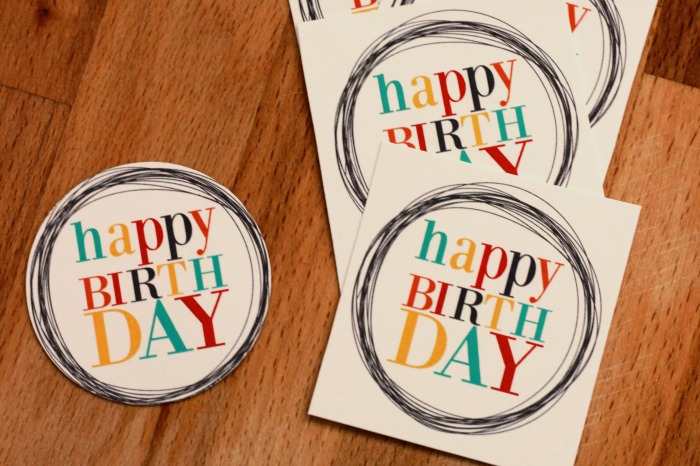Birthday gift tags with free printable food crafts and family birthday gift tags cut tags negle