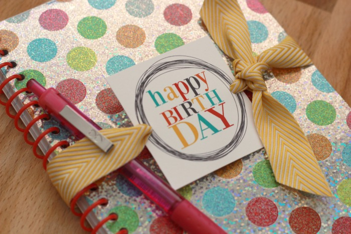 Birthday-Gift-Tags-on notebook-closeup